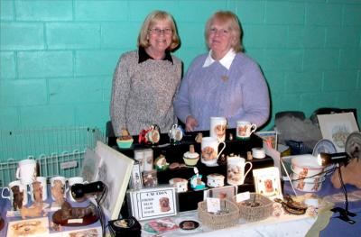 Sally Brown, left, is now running the Club stand, assisted here by Barbara Norman