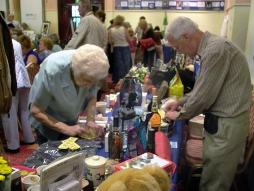 And Joan Simpson and with Dennis were kept busy preparing more raffle tickets all day.
