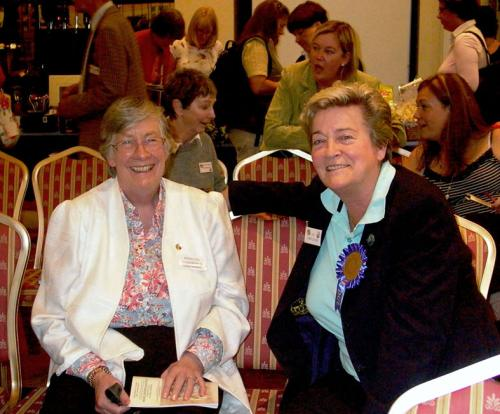 Ferelith Somerfield and Liz Cartledge echo the happy mood of the show as Liz, the Norwich judge, takes a short break.
