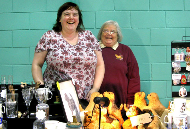 Gina and Dorothy Dorkins at the Club Stand.