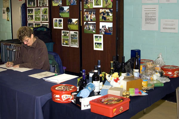 The club secretary and the raffle prizes