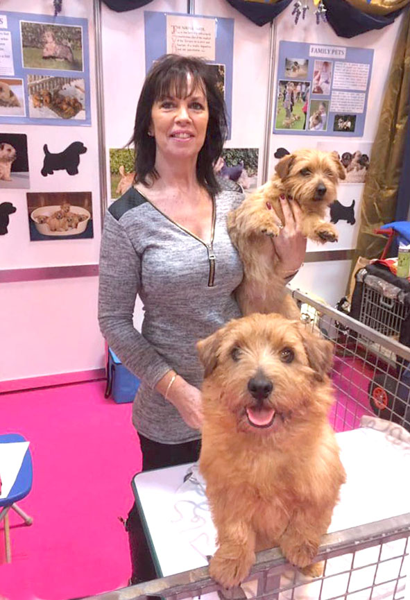 Debbie Mounfield with Buddy and Daisy.