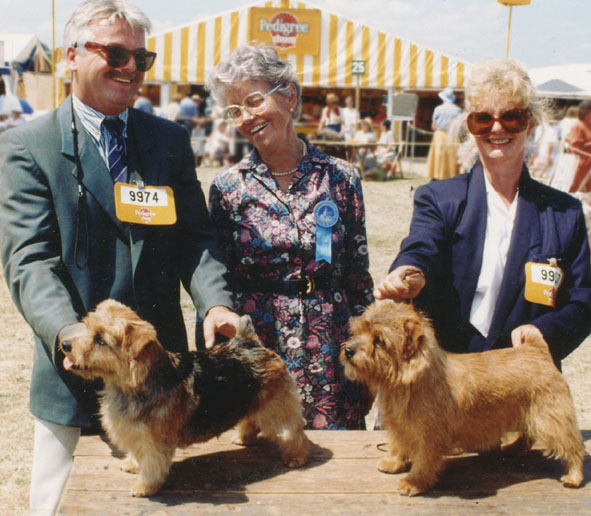 Judging at Windsor 1993, with Martin Phillips and Karen Kruger.
