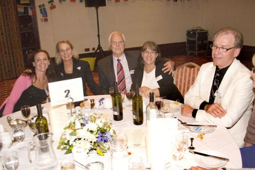 Left to right, Roxanne Stamm (USA), Beth Sweigart (USA), Peter Green (USA), Pam Beale (USA), Kenneth Eliasson (Sweden)