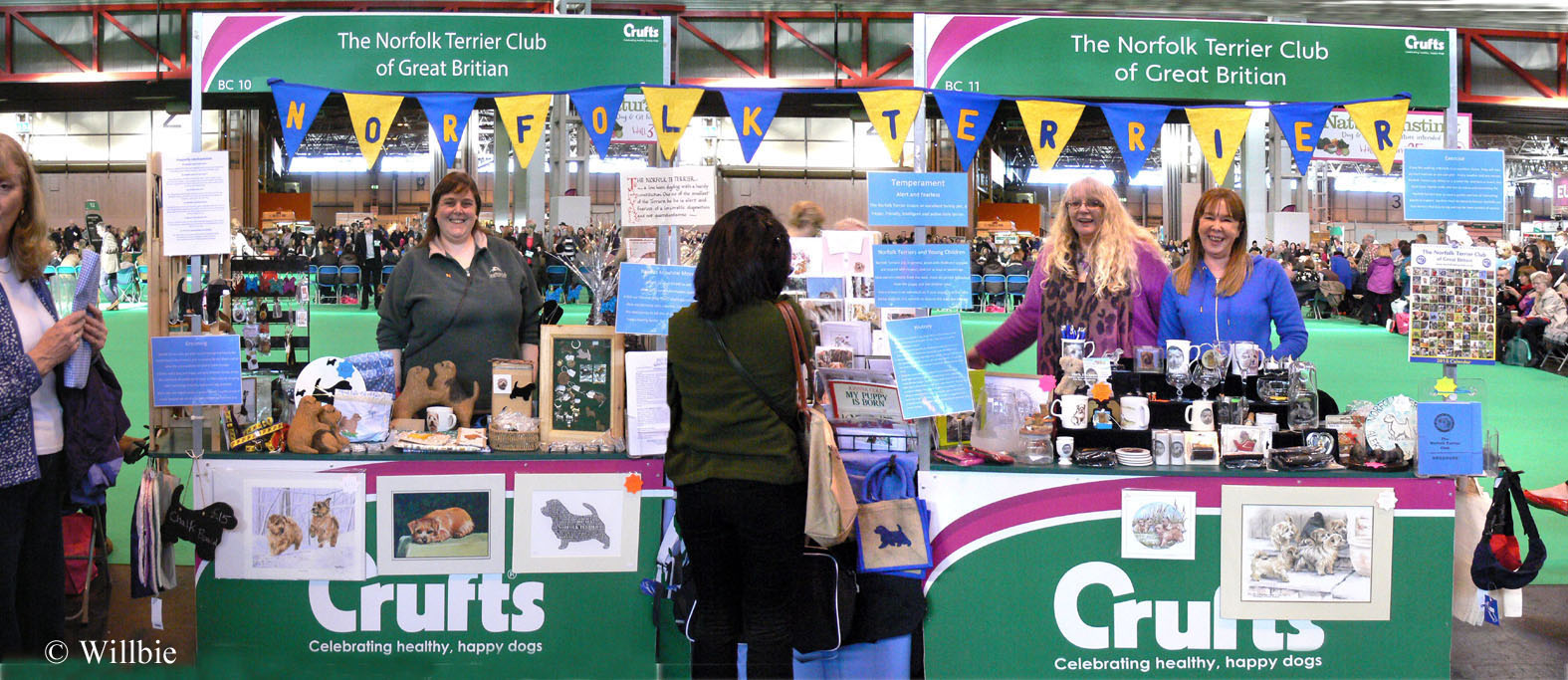 The Stand 1st prize Terrier Group. With Gina Dorkins, Lisa Charnokk, and Claire Butler.