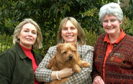 And finally 'The Three Crufts Graces'! Elisabeth Matell Coco's breeder,  Rita Mitchell owner of Coco's father 'Claret' (he's in her arms) and Cherry Howard breeder of Coco's mother, Hatchwoods Madrigal.