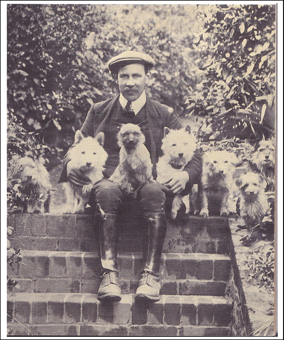 Norfolk Terrier History - And with his Norfolks and other Terriers (our thanks to Loed Brinkmann for this photo)
