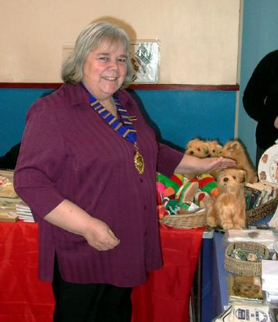 Mrs Dorothy Dorkins, the new President of the Norfolk Terrier Club of GB.