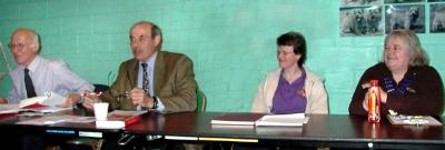 John Mackison, Allenby Stevenson, Juliet Knight and Dorothy Dorkins  preside at the AGM for the last time together